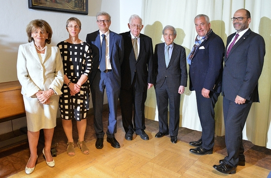 Charlotte Knobloch, Barbara Conradt, Michael Brenner, Shlomo Avineri, Shlomo Ben-Ami, Ludwig Spaenle, Dan Shaham  (v.l.n.r.)